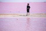 少女心大噴發。西澳粉紅湖Hutt Lagoon