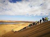 風沙交織騰格里,沙漠徒步50里